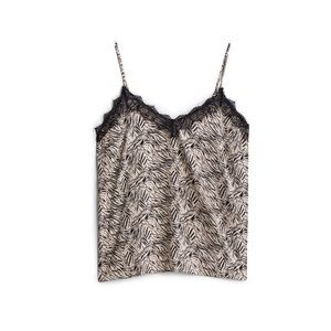 NWT Stitch Fix Animal Print Cami with Lace